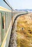 O trem transiberiano Imagem de Stock