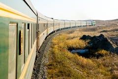 O trem transiberiano Fotografia de Stock