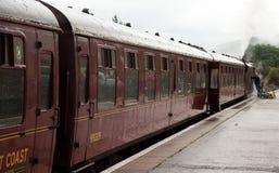 O trem velho de Jacobite imagens de stock