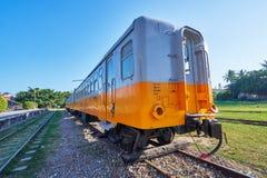 O trem velho de Taitung era negócio e usos da parada para a mostra histórica no museu exterior na vila da arte da estrada de ferr imagem de stock royalty free