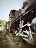 O trem velho do motor de vapor Fotografia de Stock