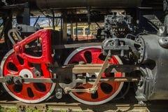 O trem velho do motor de vapor Foto de Stock