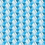 O triângulo azul da máscara sobrepôs o backgr horizontal do teste padrão listrado Fotos de Stock