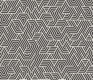 O triângulo irregular preto e branco sem emenda do vetor alinha o teste padrão geométrico Fotografia de Stock Royalty Free