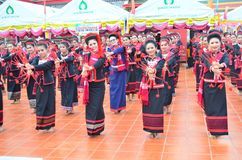 O tribo de Phu TAI foto de stock