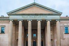 O tribunal de justiça dinamarquês em Copenhaga fotografia de stock