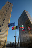 O tribunal de justiça europeu Fotos de Stock Royalty Free