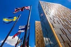 O tribunal de justiça europeu em Luxemburgo Fotos de Stock
