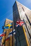 O tribunal de justiça europeu em Luxemburgo Fotografia de Stock Royalty Free