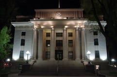 O tribunal de Yavapai County no Prescott, o Arizona na noite Imagens de Stock