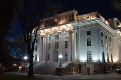 O tribunal de Yavapai County no Prescott, o Arizona na noite Fotografia de Stock Royalty Free