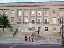 O tribunal em Wilmington do centro imagem de stock royalty free