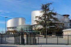 O Tribunal Europeu de Direitos Humanos imagem de stock