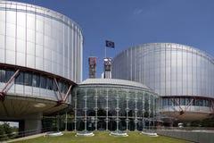 O Tribunal Europeu de Direitos Humanos - Strasbourg - França imagens de stock royalty free