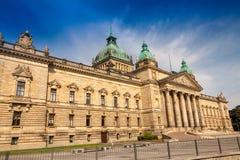 O tribunal federal, cidade de Leipzig Imagens de Stock