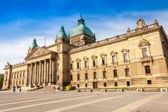 O tribunal federal, cidade de Leipzig Fotografia de Stock