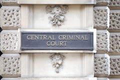 O Tribunal Penal central Imagens de Stock Royalty Free