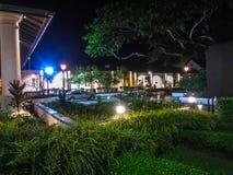 O tribunal velho da meia-noite, Kuching Malásia foto de stock