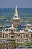 O tribunal velho, Dubuque, Iowa fotos de stock royalty free