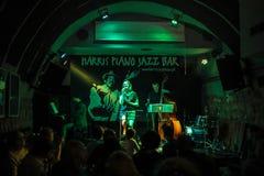 O trio de Zalewska executa vivo no verão Jazz Festival em Krakow, fotos de stock