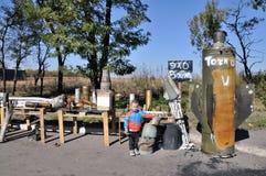O troféu da exposição descasca separatistas ucrânia Imagem de Stock