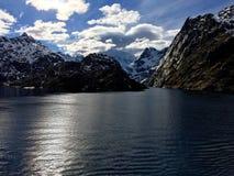 O Trollfjorden magnífico em Lofoten, Noruega Imagem de Stock Royalty Free