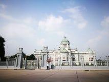 O trono Salão de Ananda Samakhom em Banguecoque Fotografia de Stock Royalty Free