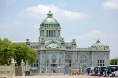 O trono Salão de Ananta Samakhom no palácio real tailandês de Dusit, golpe Fotografia de Stock Royalty Free
