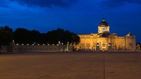 O trono Salão de Ananta Samakhom no palácio real tailandês de Dusit, golpe Imagens de Stock