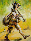 O troubadour de vagueamento joga uma tubulação Fotos de Stock Royalty Free