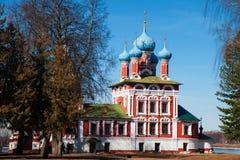 O Tsarevich Dmitry Church no sangue fotografia de stock