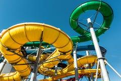O tubo desliza no parque da água Foto de Stock Royalty Free