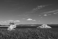 O tufo maravilhoso da pedra calcária eleva-se na área sul do tufo do mono lago imagens de stock royalty free