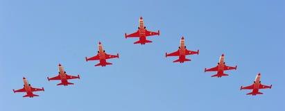 O turco Stars a equipe da aviação na POLARIZAÇÃO 2012 Imagens de Stock Royalty Free