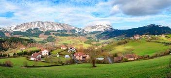 O turismo rural no país Basque coloca, Espanha foto de stock