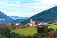 O turismo rural no país Basque coloca, Espanha fotografia de stock