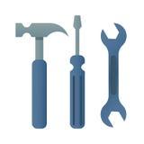 O turnscrew do martelo utiliza ferramentas o ícone Imagem de Stock