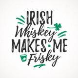 O uísque irlandês faz-me saltitante Fotografia de Stock