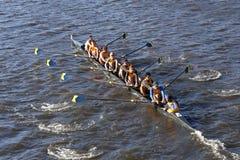 O UC Santa Barbara compete na cabeça da faculdade Eights de Charles Regatta Men Fotos de Stock