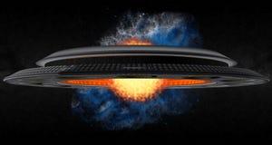 O UFO de Termonuclear Imagens de Stock Royalty Free