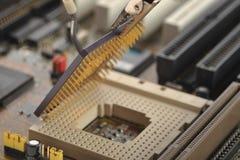 O unidade central de processador do computador Imagem de Stock Royalty Free