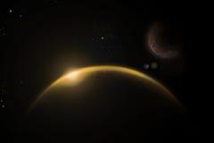 O universo amarelo Fotos de Stock Royalty Free