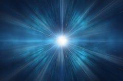 Universo da calha do curso da urdidura do espaço Foto de Stock Royalty Free