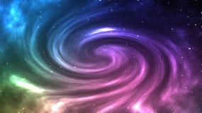 O universo encheu-se com as estrelas, e bonito da galáxia ilustração do vetor