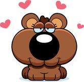 O urso Cub dos desenhos animados ama ilustração do vetor