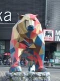 O urso cubista Fotos de Stock
