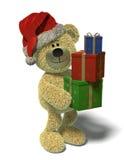 O urso de Nhi com Natal-apresenta. Fotos de Stock