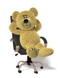 O urso de Nhi relaxa no escritório. Fotos de Stock Royalty Free