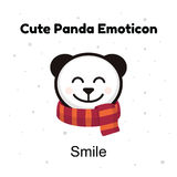 O urso de panda principal bonito do bebê sorri em um fundo branco Fotos de Stock