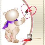 O urso tira um heart4 Fotos de Stock Royalty Free